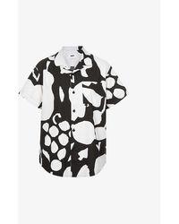 Obey Fruit Graphic-print Cotton-blend Shirt - Black
