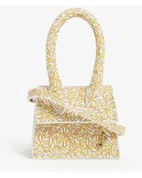 Jacquemus Le Petit Chiquito Mini Leather Top Handle Bag - Metallic