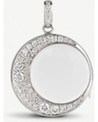 Loquet London Crescent Moon 18ct White-gold And 1.3ct Diamond Locket