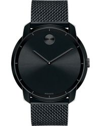 Movado - 3600261 Bold Black Ion-plated Steel Watch - Lyst