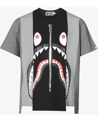 A Bathing Ape Graphic-print Relaxed-fit Cotton T-shirt - Black