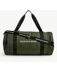 The Kooples Logo Canvas Gym Bag - Green