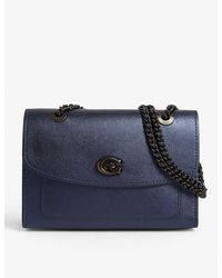 COACH Parker Leather Shoulder Bag - Blue