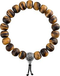 Thomas Sabo - Rebel At Heart Tiger's Eye Beaded Bracelet - Lyst