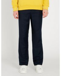 AMI - Regular-fit Straight Wool Trousers - Lyst