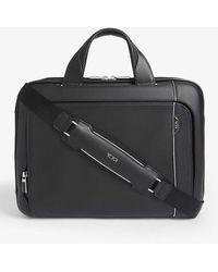 Tumi Arriv Leather Sadler Briefcase - Black