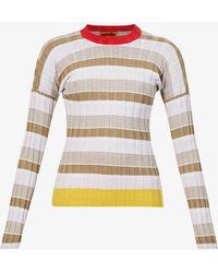 Colville Striped Stretch-cotton Top - Multicolour