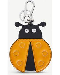 Loewe Ladybug Leather Charm - Orange