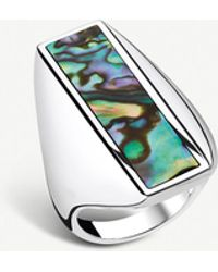 Thomas Sabo Heritage Sterling Silver And Abalone Mother-of-pearl Ring - Metallic
