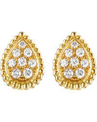 Boucheron Women's Serpent Bohème 18ct Yellow-gold And Diamond Stud Earrings