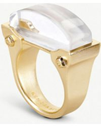 Kendra Scott - Jeanne 14ct Gold-plated Ivory Mother Of Pearl Cocktail Ring - Lyst