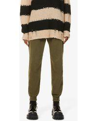 Rag & Bone Engineered Tapered-leg Mid-rise Cotton Trousers - Multicolour