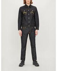 dfe67150c5cb Evisu - Branded And Embroidered Regular-fit Denim Jacket - Lyst