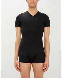 Spanx Zoned Performance V-neck Undershirt - Black