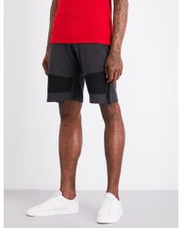 The Kooples Sport - Contrasting Panels Cotton Jogging Shorts - Lyst
