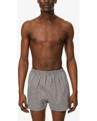 Sunspel Liberty Floral Geo-print Relaxed-fit Cotton-poplin Boxer Shorts - Multicolour