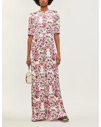 Seren Truman Floral-print wide-legged Jumpsuit - Pink