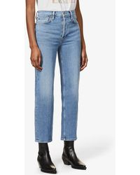 RE/DONE 70s Stove Pipe Straight High-rise Jeans - Blue
