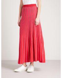 Sandro | Striped Knitted Midi Skirt | Lyst