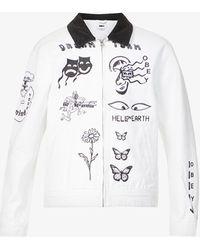 Obey Dream Team Graphic-print Denim Jacket - White