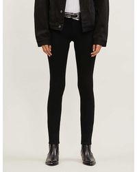 PAIGE Skyline Skinny Mid-rise Jeans - Black