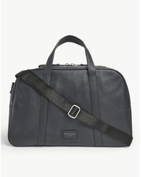 Ted Baker Leather Holdall - Blue