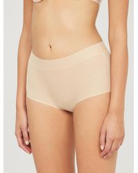 Chantelle Soft Stretch High-rise Stretch-jersey Briefs - Natural