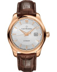 Carl F. Bucherer - Alligator-embossed Leather And 18k Rose Gold Watch - Lyst