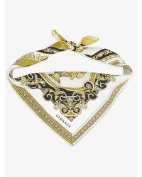 Versace Patchwork Silk Scarf 65cm X 65cm - Metallic