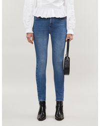 Claudie Pierlot Pyros Cropped Skinny High-rise Jeans - Blue