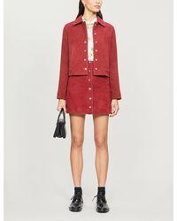 Claudie Pierlot Cachoue Suede Jacket - Red
