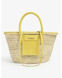 Jacquemus Le Panier Soleil Woven Straw Tote Bag - Multicolour