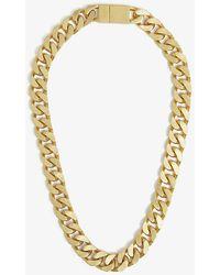 Oroton Noa Chunky Gold-toned Brass Necklace - Metallic