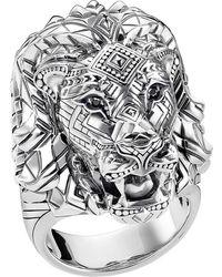 Thomas Sabo Lion Head Sterling Silver Ring - Metallic