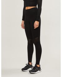Free People Gone Adrift Seamless Stretch-knit leggings - Black