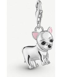 Thomas Sabo Chinese New Year Sterling Silver Standing Dog Charm - Metallic