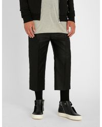 Rick Owens - Dirt Tapered Cropped Cotton Trousers - Lyst