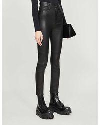 Jitrois Skinny High-rise Leather Trousers - Black