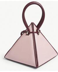 Nita Suri - Lia Pyramid Leather Handbag - Lyst