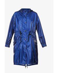 Moncler Achird Drawstring-waist Shell Coat - Blue