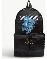 1944dd63e4 Off-White c o Virgil Abloh - Skull Logo Satin Nylon Backpack - Lyst