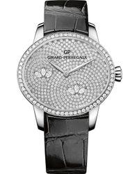 Girard-Perregaux - 80489d53a1b1-ck6a Cat's Eye Alligator-leather And Diamond Watch - Lyst