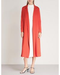 Galvan London - Sun Textured Crepe Coat - Lyst