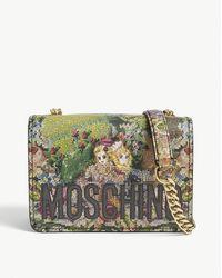 Moschino Scene-print Vinyl Cross-body Bag - Multicolour