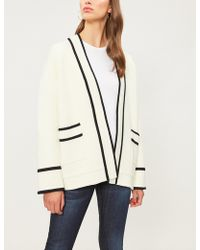 Claudie Pierlot - Open-front Knitted Cardigan - Lyst