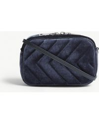 Sandro - Quilted Velvet Cross-body Bag - Lyst