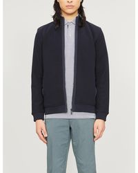 Ted Baker High-neck Cotton-knit Cardigan - Blue