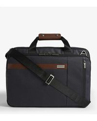 Briggs & Riley Kinzie Convertible Briefcase/backpack/two-wheel Case - Blue