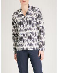 Eton of Sweden - Graphic Slim-fit Cotton Shirt - Lyst