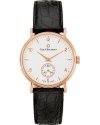 Carl F. Bucherer - 00.10305.03.26.01 Adamavi Rose-gold Sapphire Crystal And Leather Watch - Lyst
